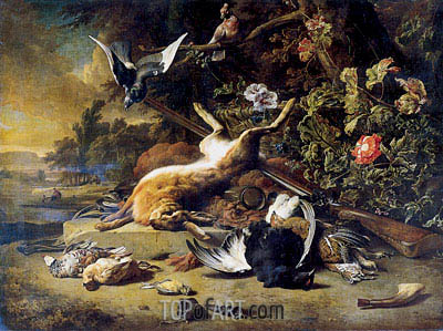 Dead Game and Small Birds, c.1700 | Jan Weenix | Painting Reproduction