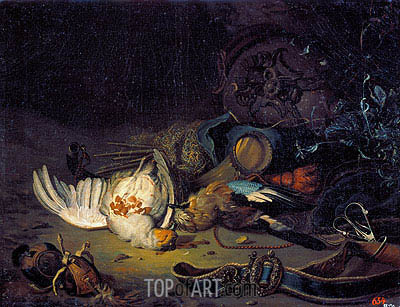 Still Life with Dead Birds, undated | Jan Weenix| Gemälde Reproduktion