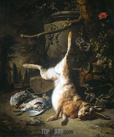 Still Life with Hare and other Hunting Booty, 1697 | Jan Weenix | Painting Reproduction