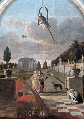 Park with House, c.1670/19 | Jan Weenix| Painting Reproduction