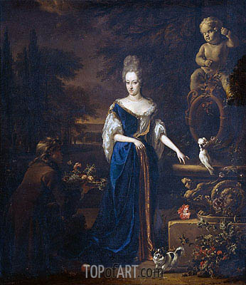 Portrait of Maria Cornelisz, Spouse of Silvester of Tongeren, c.1680/19 | Jan Weenix | Painting Reproduction