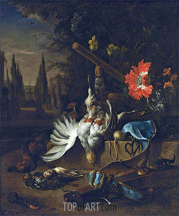 A Hunting Still Life with Partridges, undated | Jan Weenix | Painting Reproduction