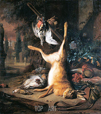 Dead Hare and Birds, 1687 | Jan Weenix | Painting Reproduction
