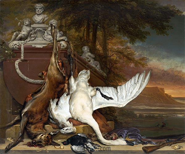 Dead Swan, c.1700/19   Jan Weenix   Painting Reproduction