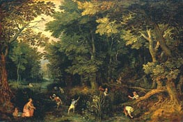 Latona and the Lycian Peasants, c.1605 von Jan Bruegel the Elder | Gemälde-Reproduktion