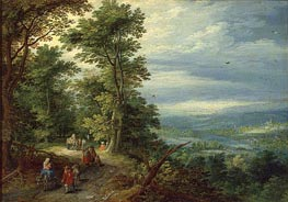 Edge of the Forest (The Flight into Egypt), 1610 von Jan Bruegel the Elder | Gemälde-Reproduktion