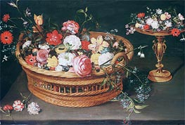 A Basket of Flowers, undated von Jan Bruegel the Elder | Gemälde-Reproduktion