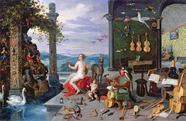 Allegory of Music, Undated von Jan Bruegel the Elder | Gemälde-Reproduktion