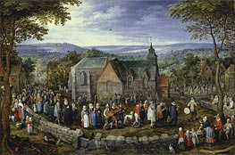 Country Wedding, c.1612 von Jan Bruegel the Elder | Gemälde-Reproduktion