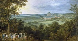 The Archdukes Hunting, c.1611 von Jan Bruegel the Elder | Gemälde-Reproduktion