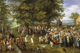 Wedding Banquet Presided Over by the Archduke and Infanta, c.1612 by Jan Bruegel the Elder | Painting Reproduction