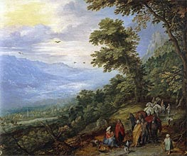 Gypsy Gathering in a Wood, c.1614 von Jan Bruegel the Elder | Gemälde-Reproduktion