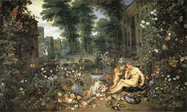 Smell, c.1617 von Jan Bruegel the Elder | Gemälde-Reproduktion