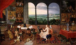 Hearing, 1617 von Jan Bruegel the Elder | Gemälde-Reproduktion