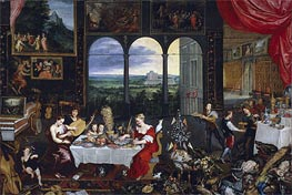 Taste, Hearing and Touch, c.1620 von Jan Bruegel the Elder | Gemälde-Reproduktion