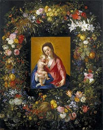 Garland with the Virgin and Child, c.1621 by Jan Bruegel the Elder | Painting Reproduction