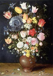 A Stoneware Vase of Flowers, c.1607/08 by Jan Bruegel the Elder | Painting Reproduction