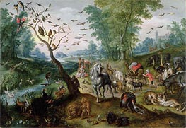 Noah's Ark, Undated by Jan Bruegel the Elder | Painting Reproduction