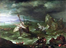 A Sea Storm, c.1594/95 by Jan Bruegel the Elder | Painting Reproduction