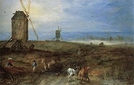 Landscape With Travellers, Undated by Jan Bruegel the Elder | Painting Reproduction