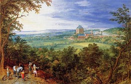 Landscape with the Chateau de Mariemont, Undated by Jan Bruegel the Elder | Painting Reproduction