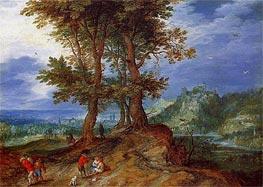 On the Road to Market, Undated von Jan Bruegel the Elder | Gemälde-Reproduktion