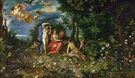 Ceres and the Four Elements, 1604 von Jan Bruegel the Elder | Gemälde-Reproduktion