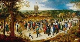 Wedding Procession to the Church, undated von Jan Bruegel the Elder | Gemälde-Reproduktion