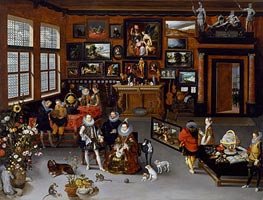The Archdukes Albert and Isabella Visiting a Collector's Cabinet, c.1621/23 von Jan Bruegel the Elder | Gemälde-Reproduktion