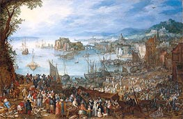 Large Fish Market, 1603 von Jan Bruegel the Elder | Gemälde-Reproduktion