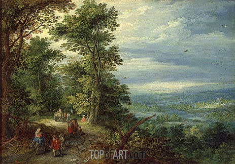 Edge of the Forest (The Flight into Egypt), 1610 | Jan Bruegel the Elder | Painting Reproduction