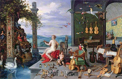 Allegory of Music,  | Jan Bruegel the Elder | Painting Reproduction