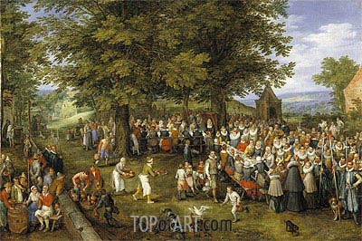Wedding Banquet Presided Over by the Archduke and Infanta, c.1612 | Jan Bruegel the Elder | Painting Reproduction