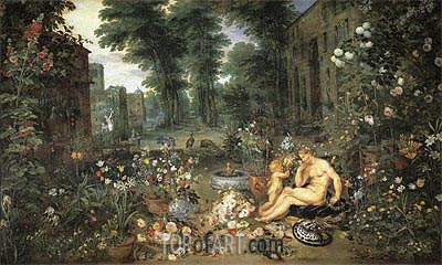 Smell, c.1617 | Jan Bruegel the Elder| Painting Reproduction