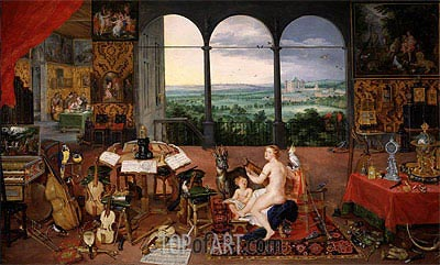 Hearing, 1617 | Jan Bruegel the Elder| Painting Reproduction