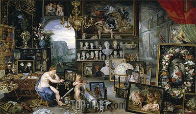 Sight (The Five Senses), 1617 | Jan Bruegel the Elder| Painting Reproduction