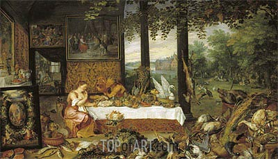 Taste, 1618 | Jan Bruegel the Elder| Painting Reproduction