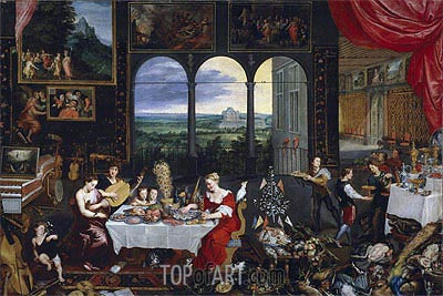 Taste, Hearing and Touch, c.1620 | Jan Bruegel the Elder | Painting Reproduction