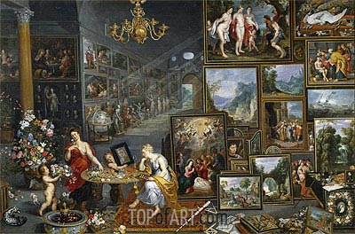 Sight and Smell, c.1620 | Jan Bruegel the Elder | Painting Reproduction