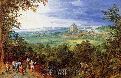 Landscape with the Chateau de Mariemont,  | Jan Bruegel the Elder | Painting Reproduction