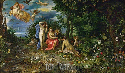 Ceres and the Four Elements, 1604 | Jan Bruegel the Elder| Gemälde Reproduktion