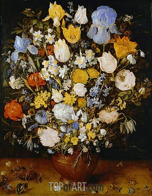 Small Bouquet of Flowers, c.1607 | Jan Bruegel the Elder| Painting Reproduction