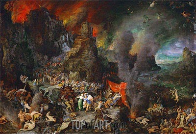 Aeneas and the Sibyl in Hades, a.1600 | Jan Bruegel the Elder | Painting Reproduction