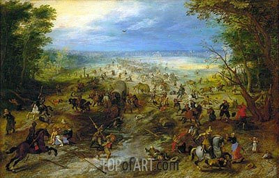The Ambush, c.1618/20 | Jan Bruegel the Elder| Gemälde Reproduktion