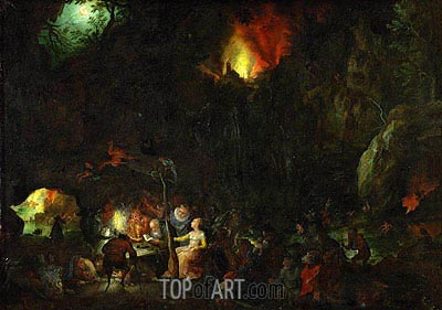 Temptation of Saint Anthony, c.1603/04 | Jan Bruegel the Elder| Painting Reproduction