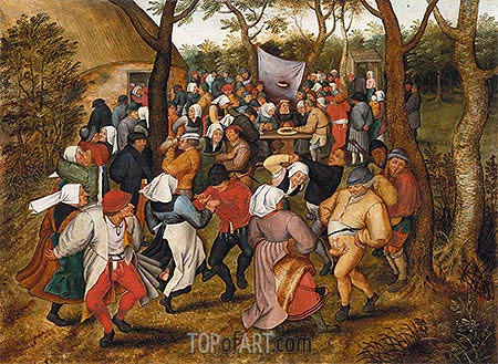 A Country Wedding, c.1630 | Jan Bruegel the Elder| Painting Reproduction