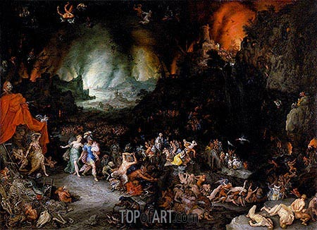 Aeneas and the Sibyl in the Underworld, c.1600 | Jan Bruegel the Elder| Painting Reproduction