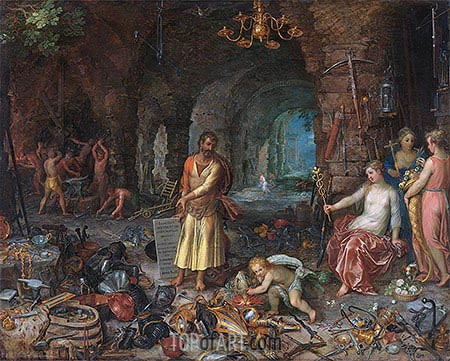 The Prophecy of Isaiah, 1609 | Jan Bruegel the Elder| Gemälde Reproduktion