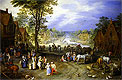 Village Scene with Canal Beyond | Jan Bruegel the Elder