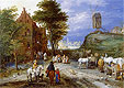 Village Entrance with Windmill - Bruegel the Elder - Samples of Quality